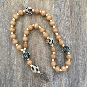 African inspired wooden beads